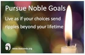 noble goal